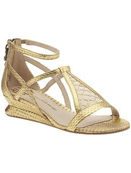 House of Harlow gold sandals. I'm sure they'll hurt like all the others.