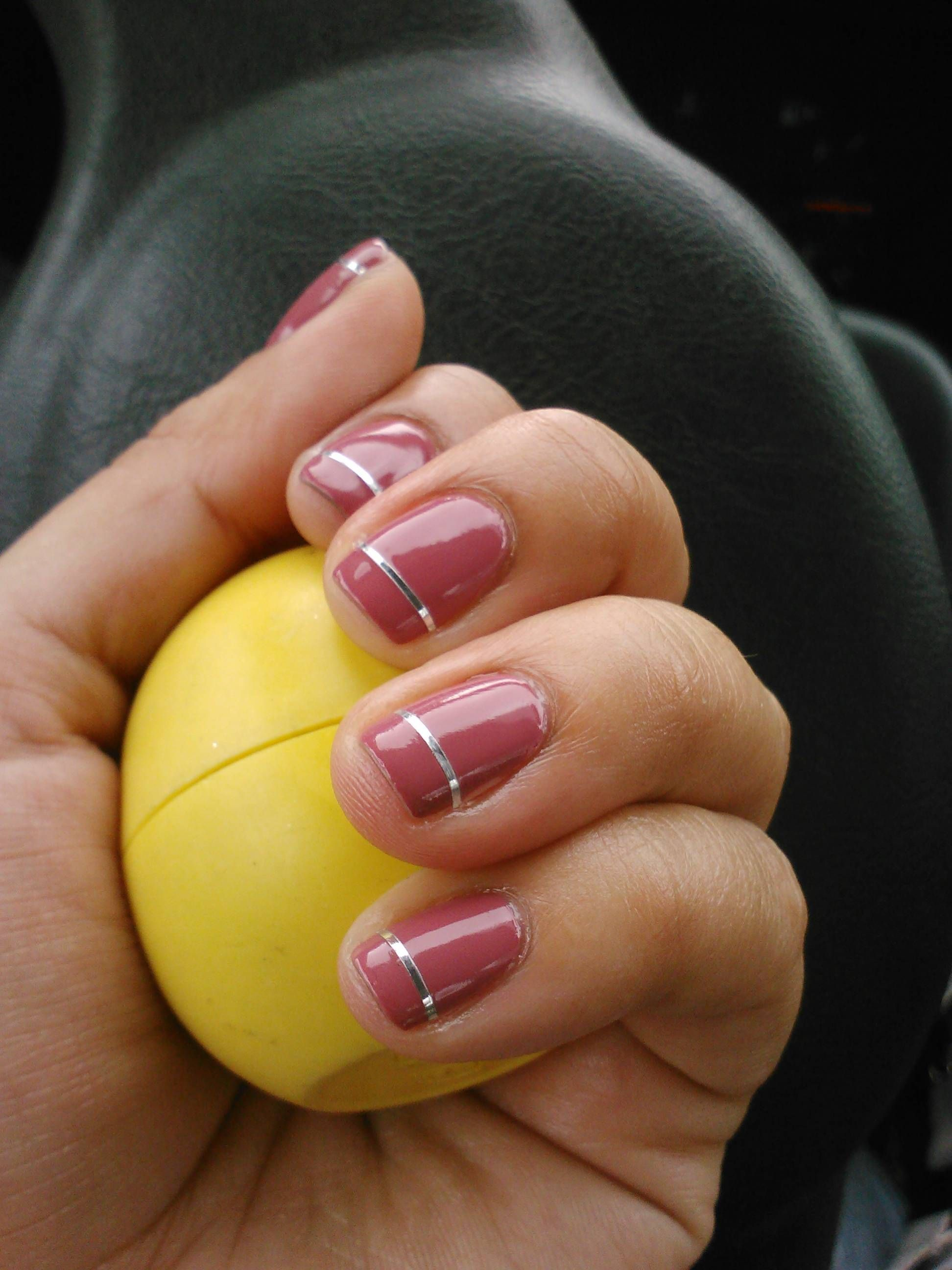 Remake of pinterest pin! Wet&Wild: Impressionable, nail design tape ...