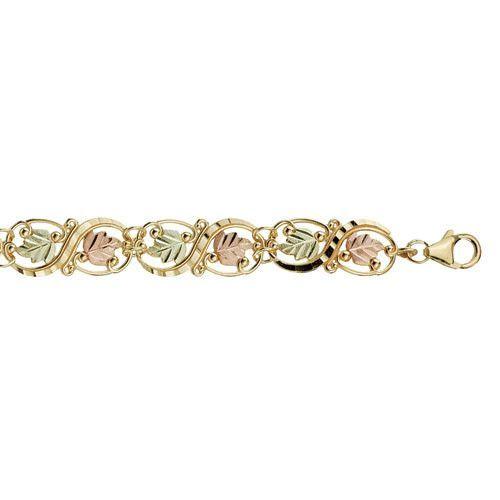 10 Karat Gold Leaf Bracelet Rose Gold Jewelry Bracelet Black Hills Gold Black Hills Gold Jewelry