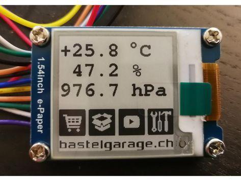 E Ink Display Mit Esp32 Ansteuern Arduino Arduino