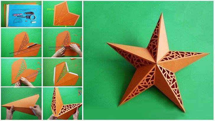 Origami Yıldız Yapımı. Origami resimli yıldız yapımı resşmli anlatım. Origami yapılışı resimli anlatım. Origami yıldız nasıl yapılır.