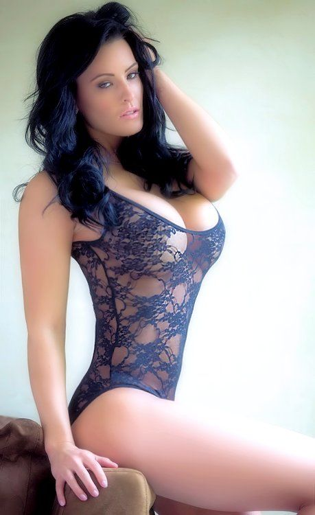 Busty brunette at busty