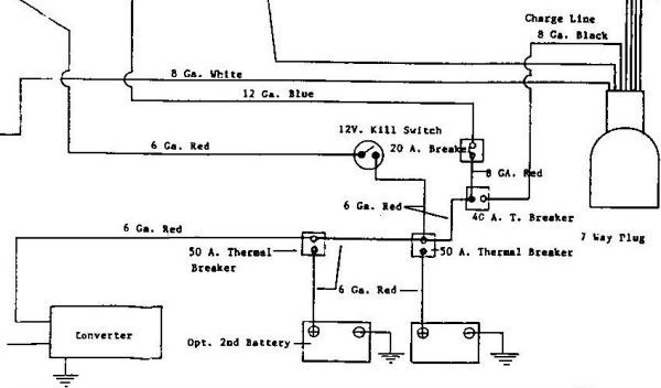 90's 21' Sovereign - 2 battery wiring diagram. might come in ... Airstream Wiring Diagram on