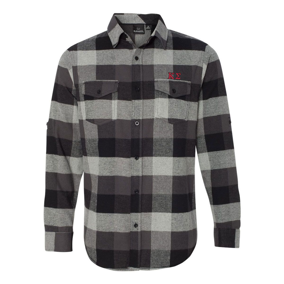 Flannel shirt black and grey  Kappa Sig Black Plaid Flannel Shirt  Top fraternities