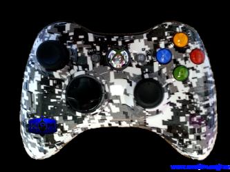 Digital Arctic Camouflage Xbox 360 Controller Xbox 360 Controller Custom Xbox Xbox