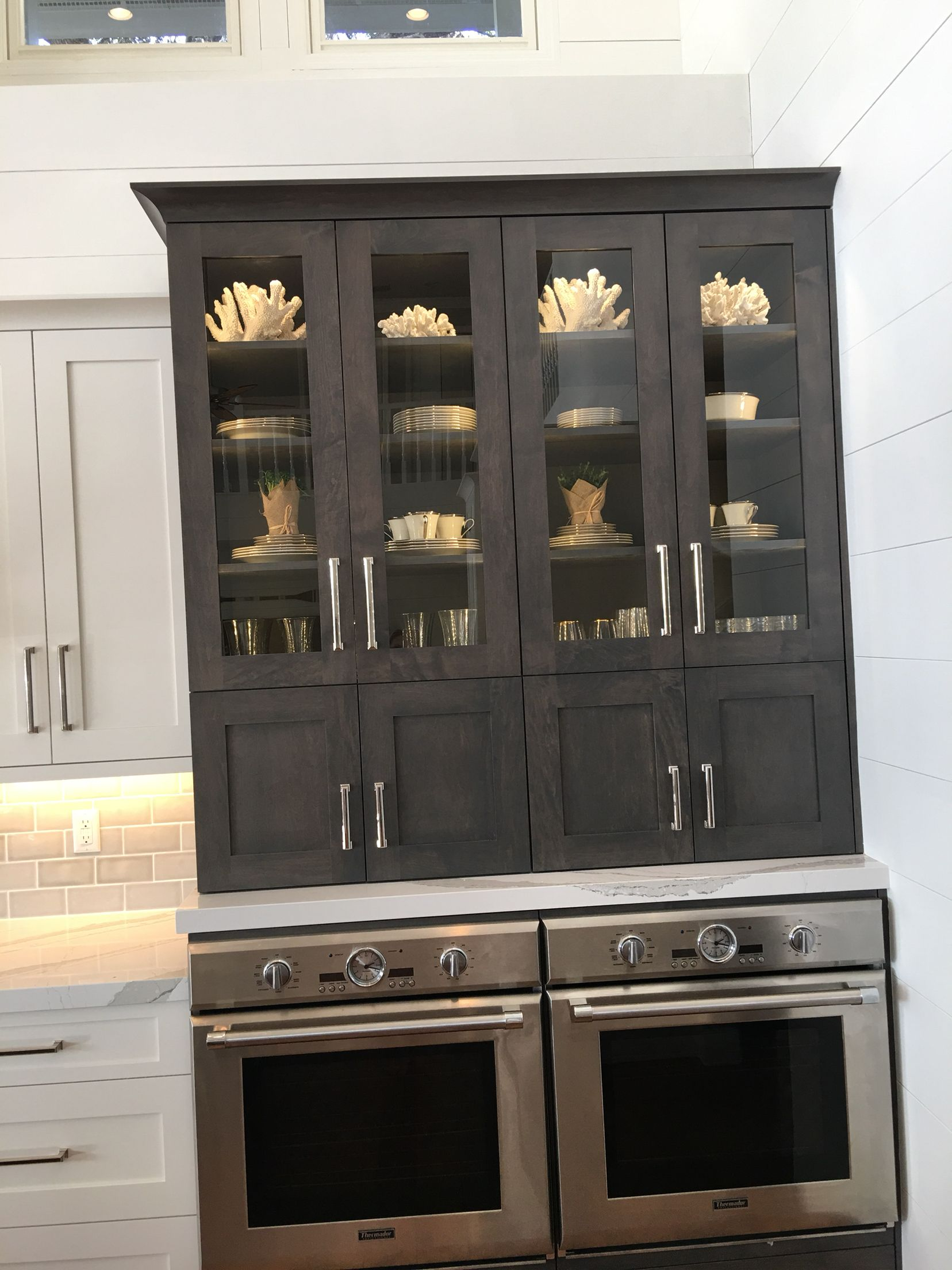 side by side double ovens over china cabinet thermadore explore coastal kitchens double ovens and more
