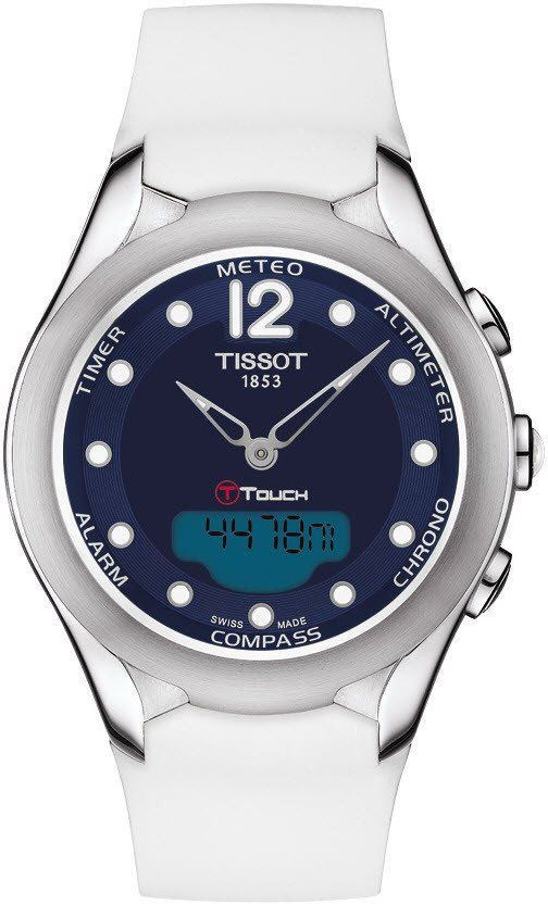 Tissot Watch T Touch Lady Solar Alarm Yes Bezel Fixed Bracelet Strap Rubber Case Material Steel Case Womens Watches Sports Watches Women Tissot Watches