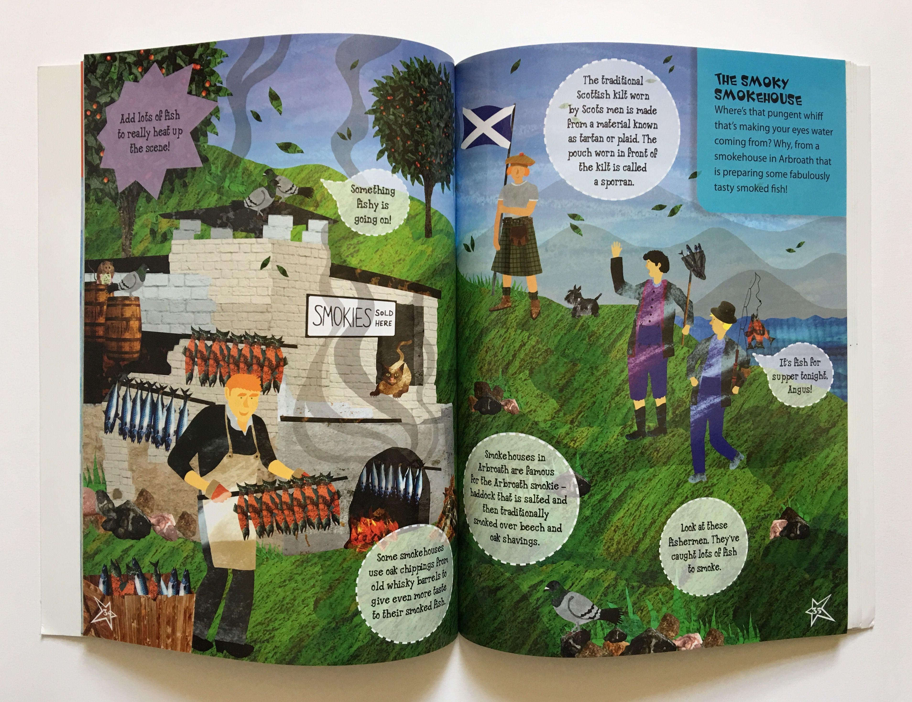 scotland spread for lonely planet kids children u0027s sticker book