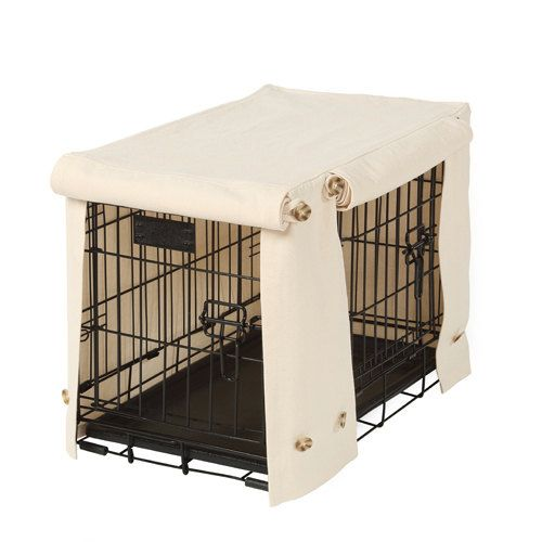 Washable Dog Crate Cover in Natural