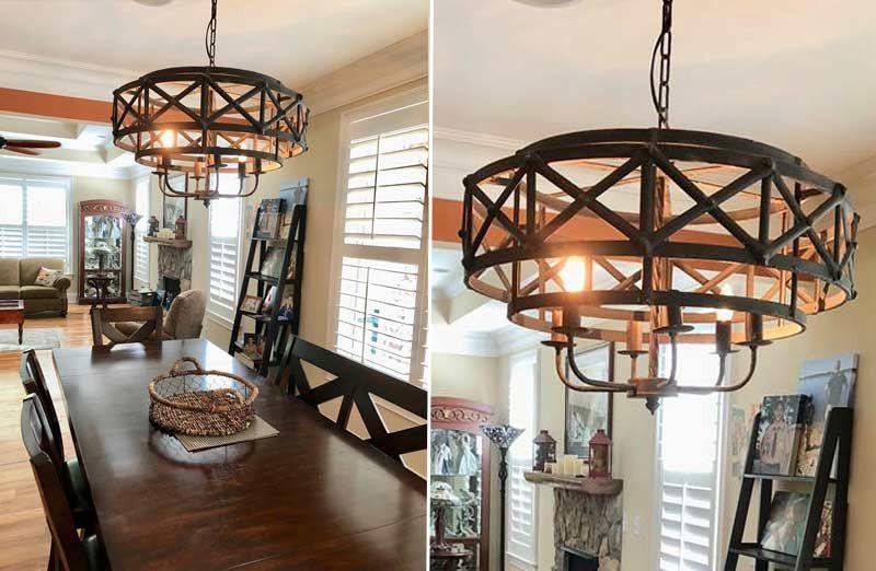 Huge rustic industrial chandelier industrial chandelier