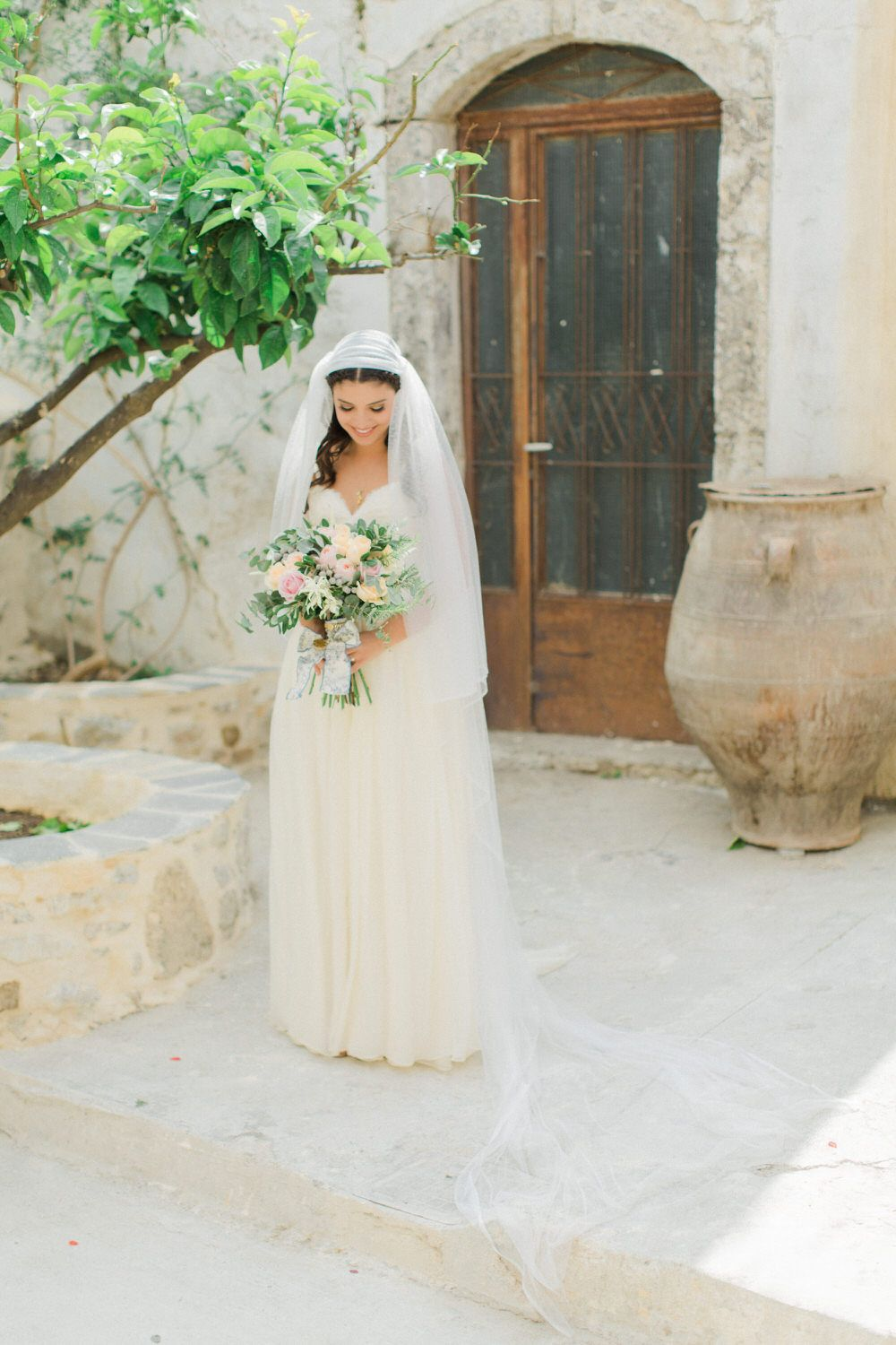 Traditional greek wedding with sarah seven wedding dress nude traditional greek wedding with sarah seven wedding dress nude bridesmaid dresses pastel rose bouquet ombrellifo Choice Image