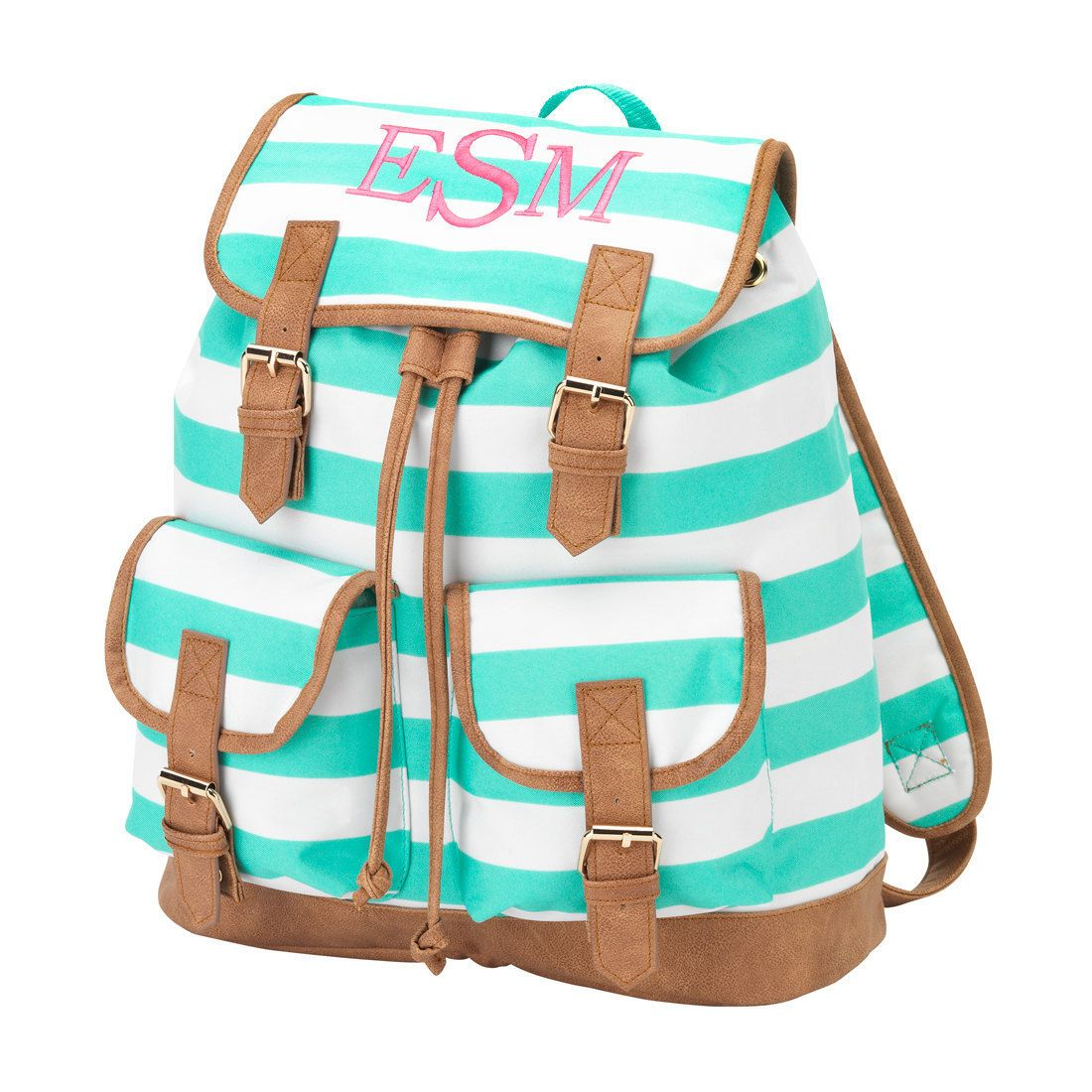 Monogrammed College book bag by SoBlessedMonogrammed on Etsy
