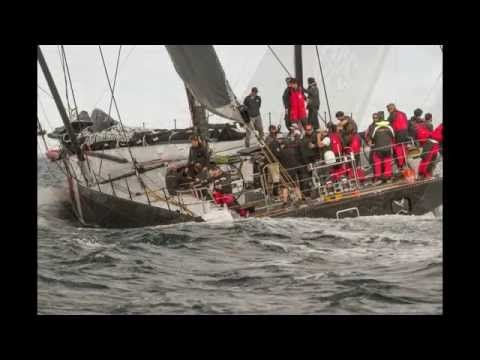 VIDEO  10/2014 Ken Read (VOR 3X) takes yacht racing to a whole new level with Clark's 100' carbon racing yacht - is it Christmas?