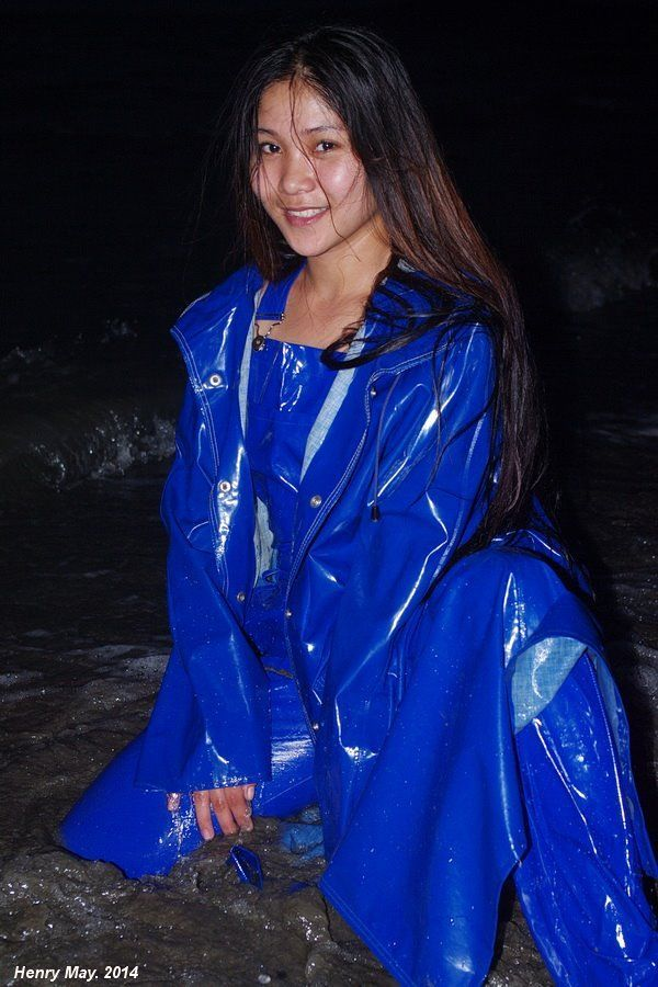 Blue Pvc Raincoat Imper Pvc Imperm 233 Able Bleu Et Mode