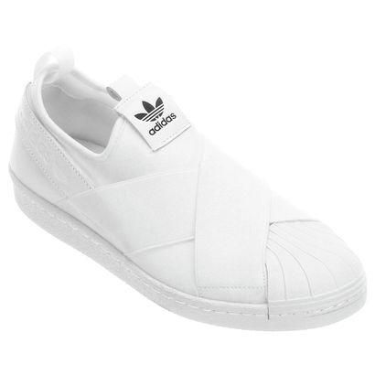 Tênis Adidas Superstar Slipon W - Preto+Branco  a7aaa86b294f7
