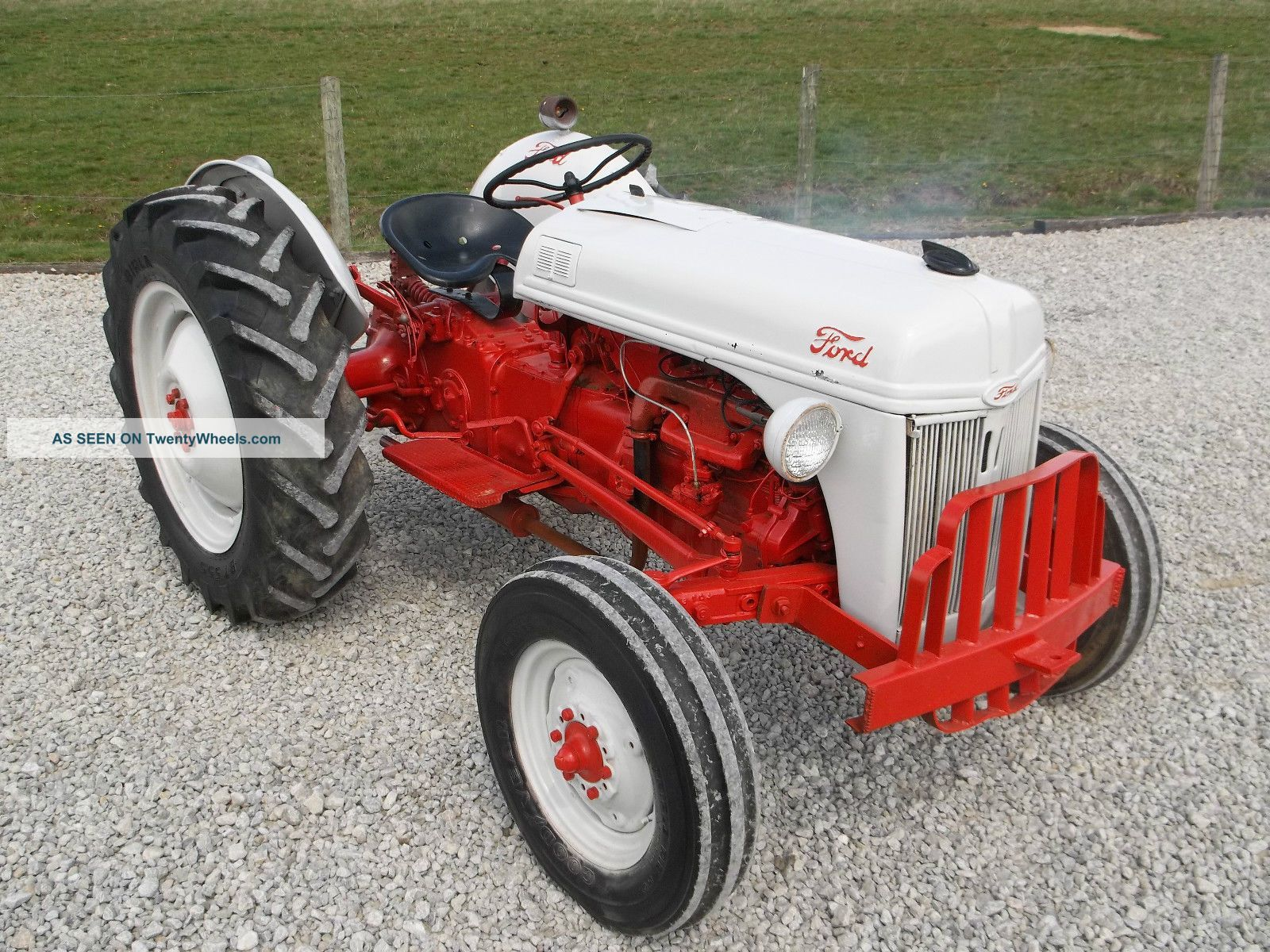 Ford 8n Tractors 1951 Ford 8n Tractor With Antique Vintage Farm Equip Ford 8n Tractor Tractors Ford Tractors