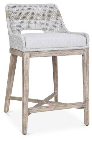 Arras Counter Stool Taupe White In 2020 Counter Stools White
