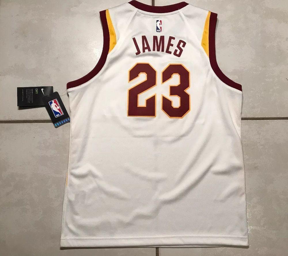 345ba242b NWT NIKE SWINGMAN Cleveland Cavaliers Lebron James NBA Jersey Youth Large