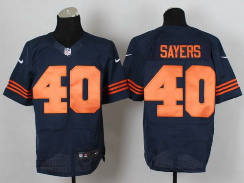 ... Nike Chicago Bears 40 Gale Sayers Blue With Orange Elite Jersey ... 58453f736