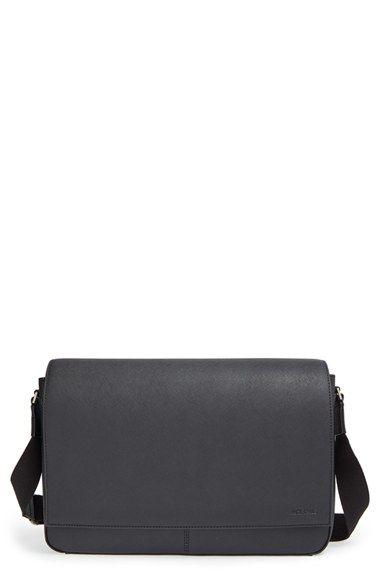 1afdef94d7 Jack Spade  Barrow  Water Resistant Saffiano Leather Messenger Bag ...
