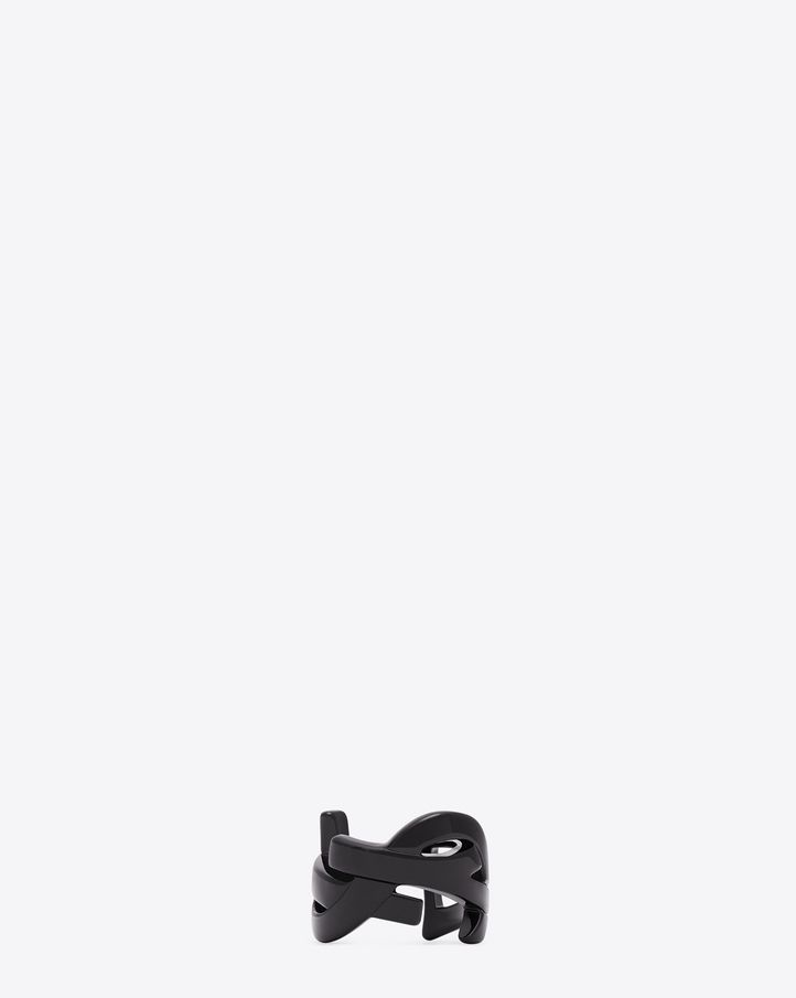 monogram ring - Black Saint Laurent nxIJD
