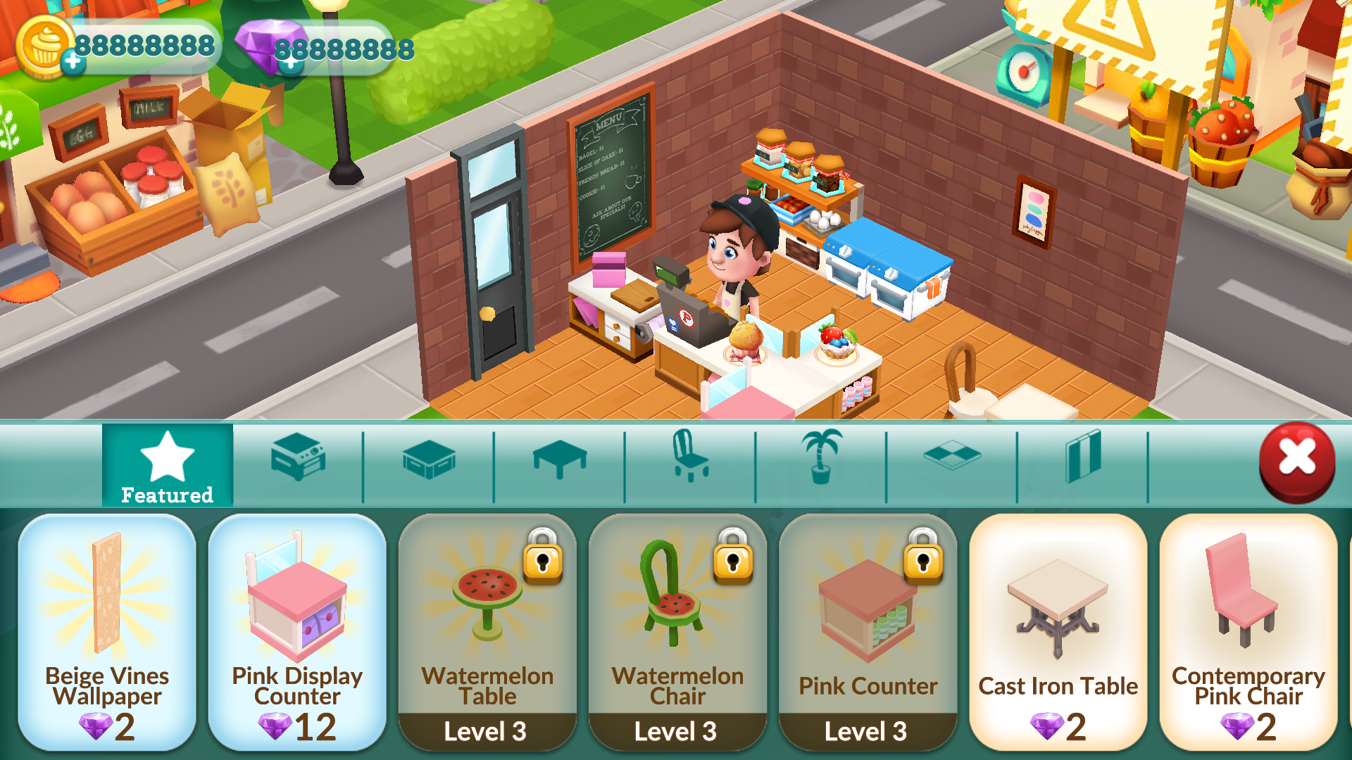 Bakery Story Mod APK Unlimited Gems and Gold Generator for