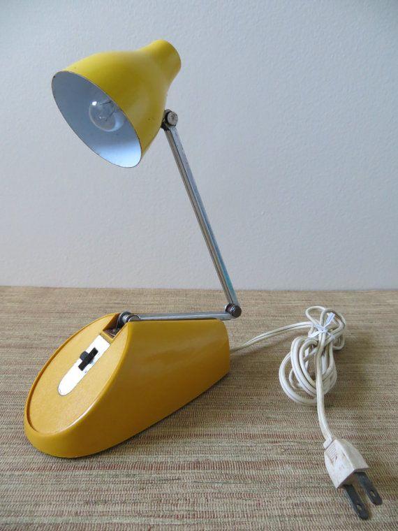 Vintage Hamilton Small Metal Desk Lamp Yellow Mustard Color Etsy Small Metal Desk Metal Desk Lamps Desk Lamp