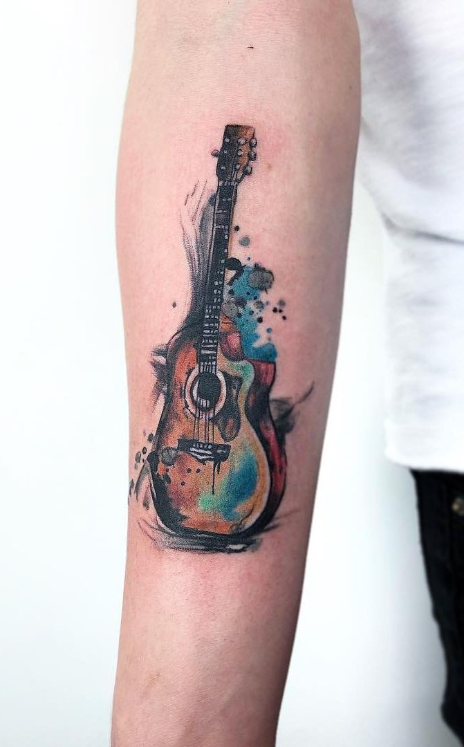 Photo of This excellent music tattoo most certainly is an inspiring and good idea #musict…