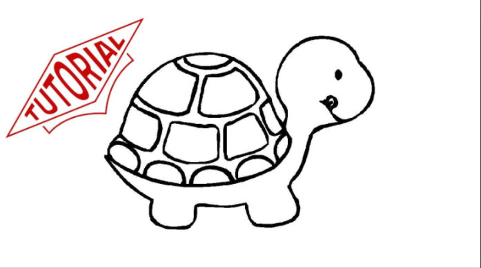 Tutorial On How To Draw A Cute Turtle Go Watch On My Youtube Channel Turtle Drawing Easy Turtle Drawing Turtle Coloring Pages