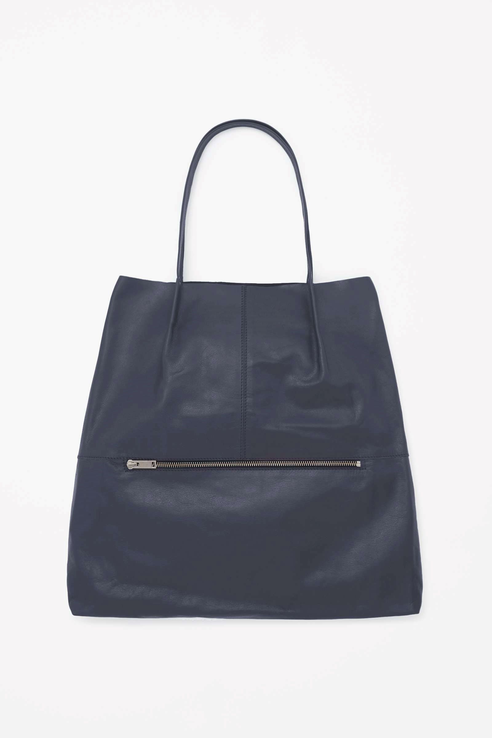 COS | Foldover leather tote