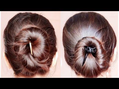 2 quick banana clip/clutcher bun hairstyles  everyday