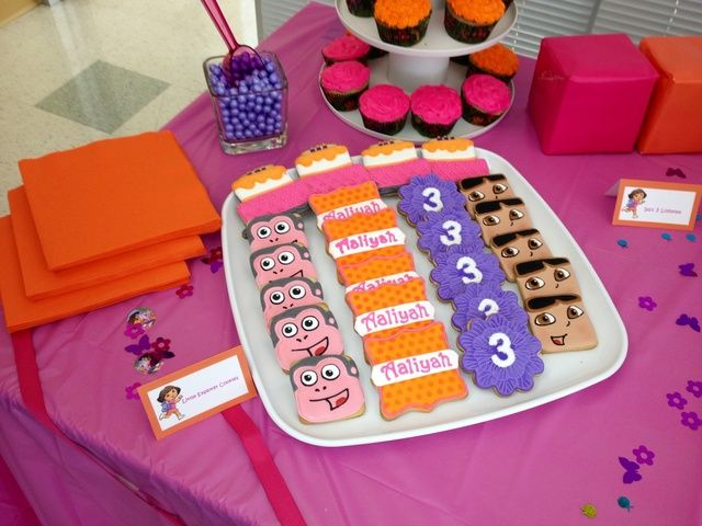 Dora The Explorer Birthday Party Ideas Photo 2 Of 20 2nd Birthday Party Themes Explorer Birthday Party Birthday Party