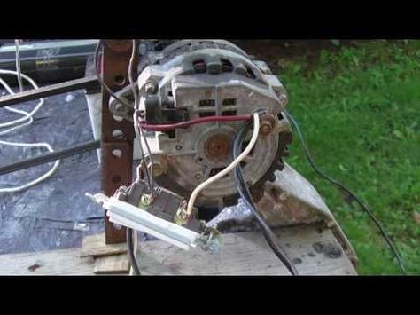 How to get 120v AC out of a car alternator  YouTube