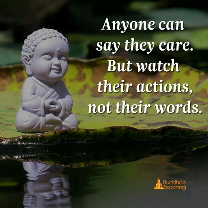 Actions Not Words Fake Vs Real Zen Buddha Buddhist Buddhism Extraordinary Buddha Quotes About Love
