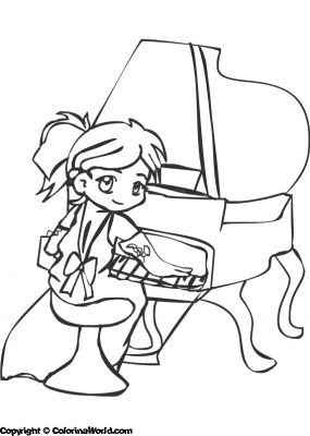 free piano keys coloring pages - photo#44