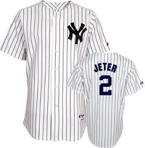 Derek Jeter Jersey Youth Majestic Home White Pinstripe Replica 2 New York Yankees Jersey Majestic Http Www Amazon Com Deportes Yorke Regalos De Cumpleanos