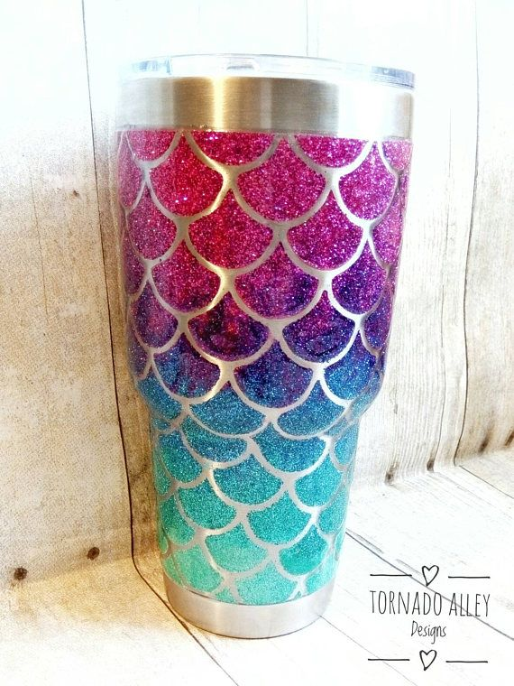 705c7384de8 Mermaid Yeti Glitter | Shirts// cups I need made for my life.. Mia's ...