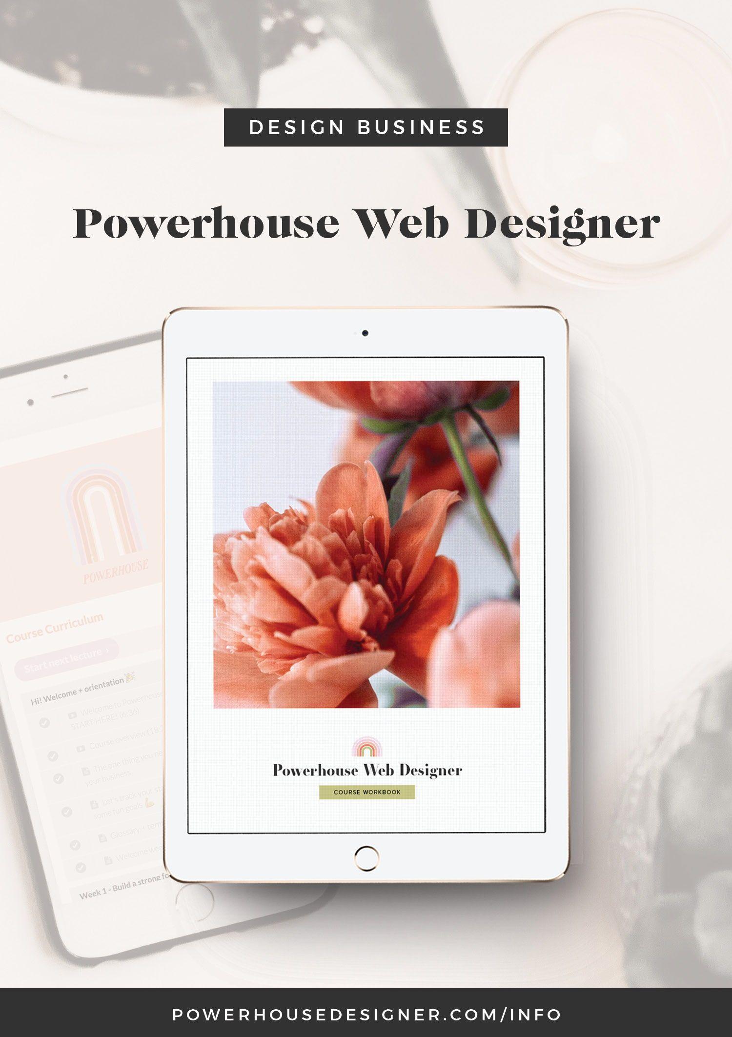 Powerhouse Web Design Course Web Designer Business Website Design Freelance Web Design Web Design Business In 2020 Web Design Course Web Design Business Design