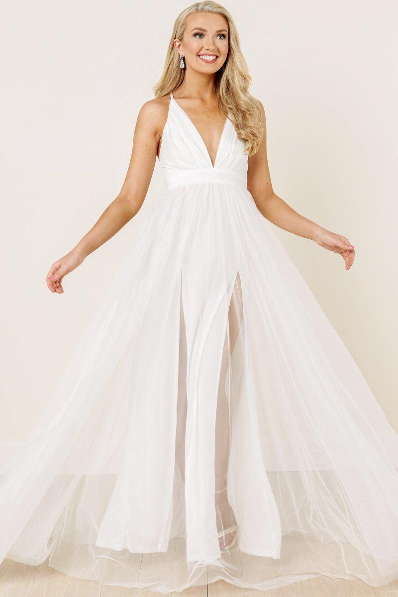 dba07e5edc Gorgeous White Maxi - Tulle Maxi - Formal Maxi -  66.00 – Red Dress Boutique