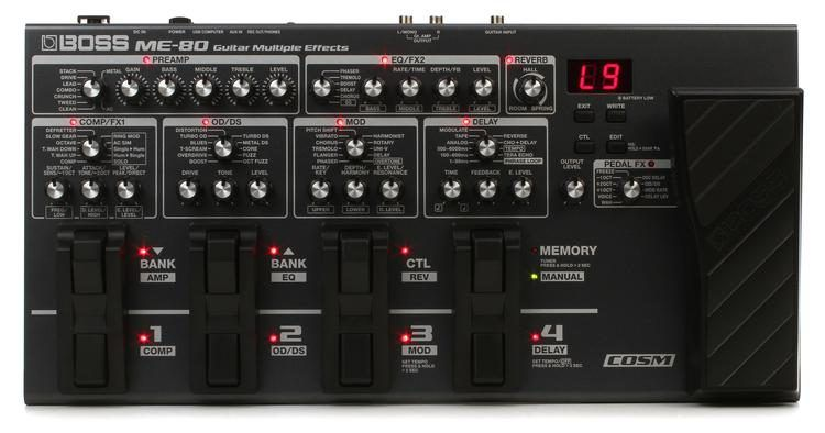 Boss ME-80 Multi-effects Pedal in 2019 | Guitar Pedal Single