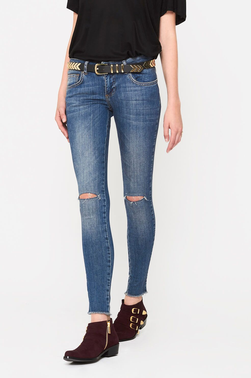 For Sale Cheap Price Cheap Sale Sneakernews high waisted skinny jeans - Grey Anine Bing N4KNVq
