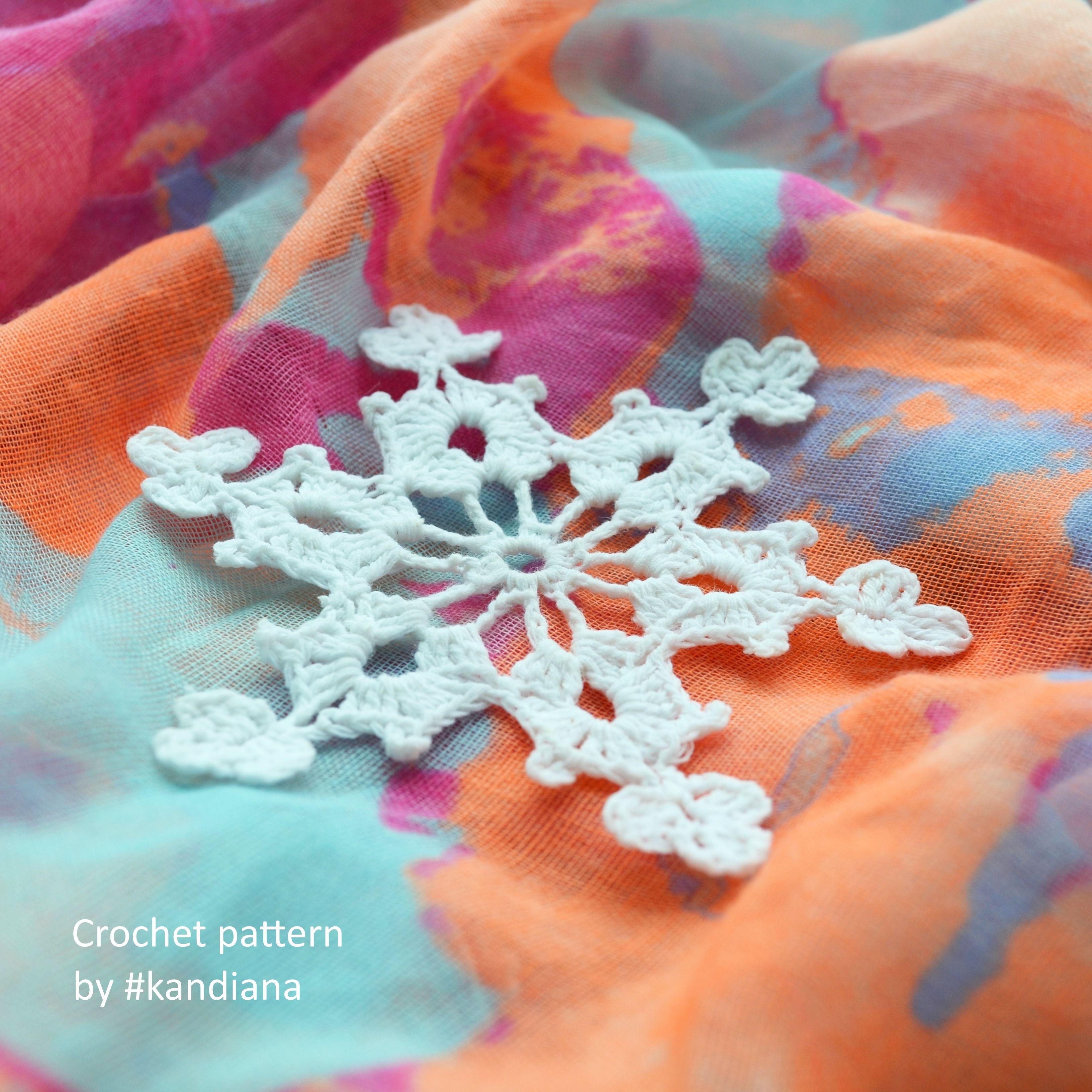 Snowflake crochet pattern Xmas crochet tutorial Christmas decor ...
