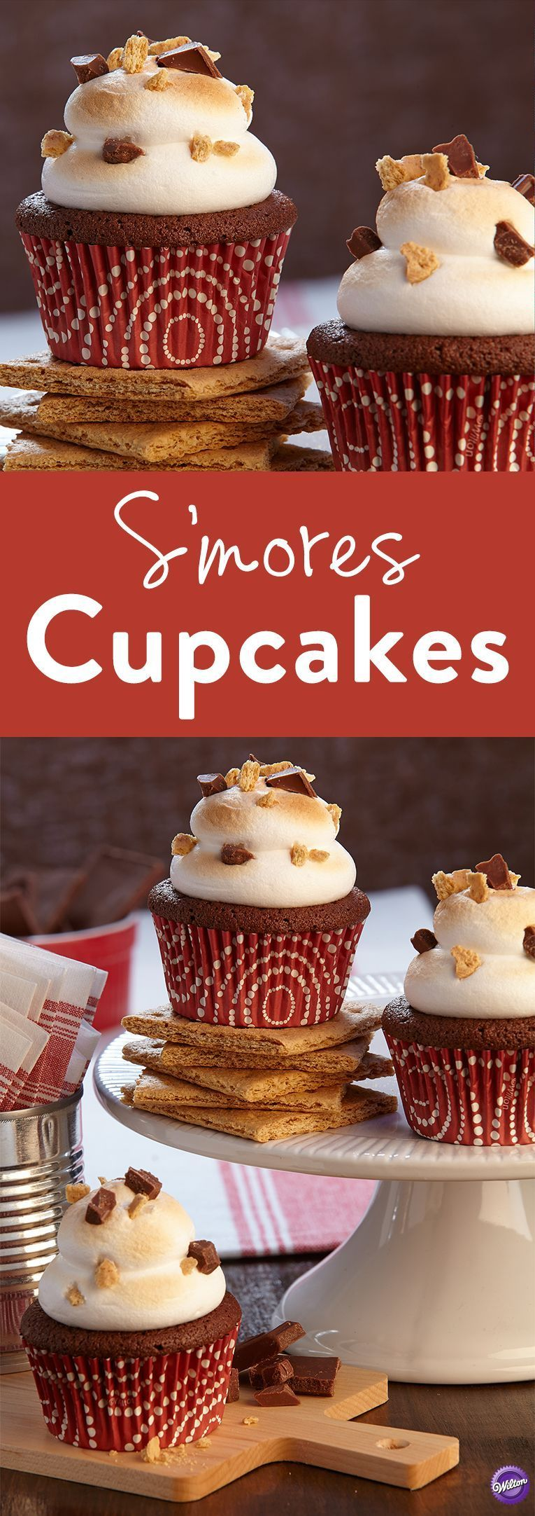 How to Make S'mores Cupcakes - Learn how to make these delicious S'mores Cupcakes and enjoy your favorite memories of childhood camping trips, without the bug bites!How to Make S'mores Cupcakes - Learn how to make these delicious S'mores Cupcakes and enjoy your favorite memories of childhood camping trips, without the bug bites!