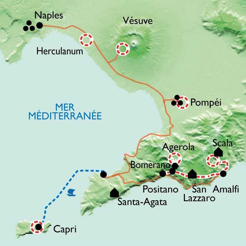 Sehr Randonnée Italie - Côte Amalfitaine, Pompéi, Capri, Naples | La  FO37