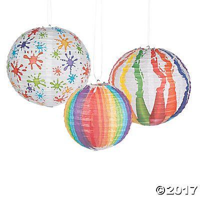 Art Palette Hanging Paper Lanterns With Images Paper Lanterns