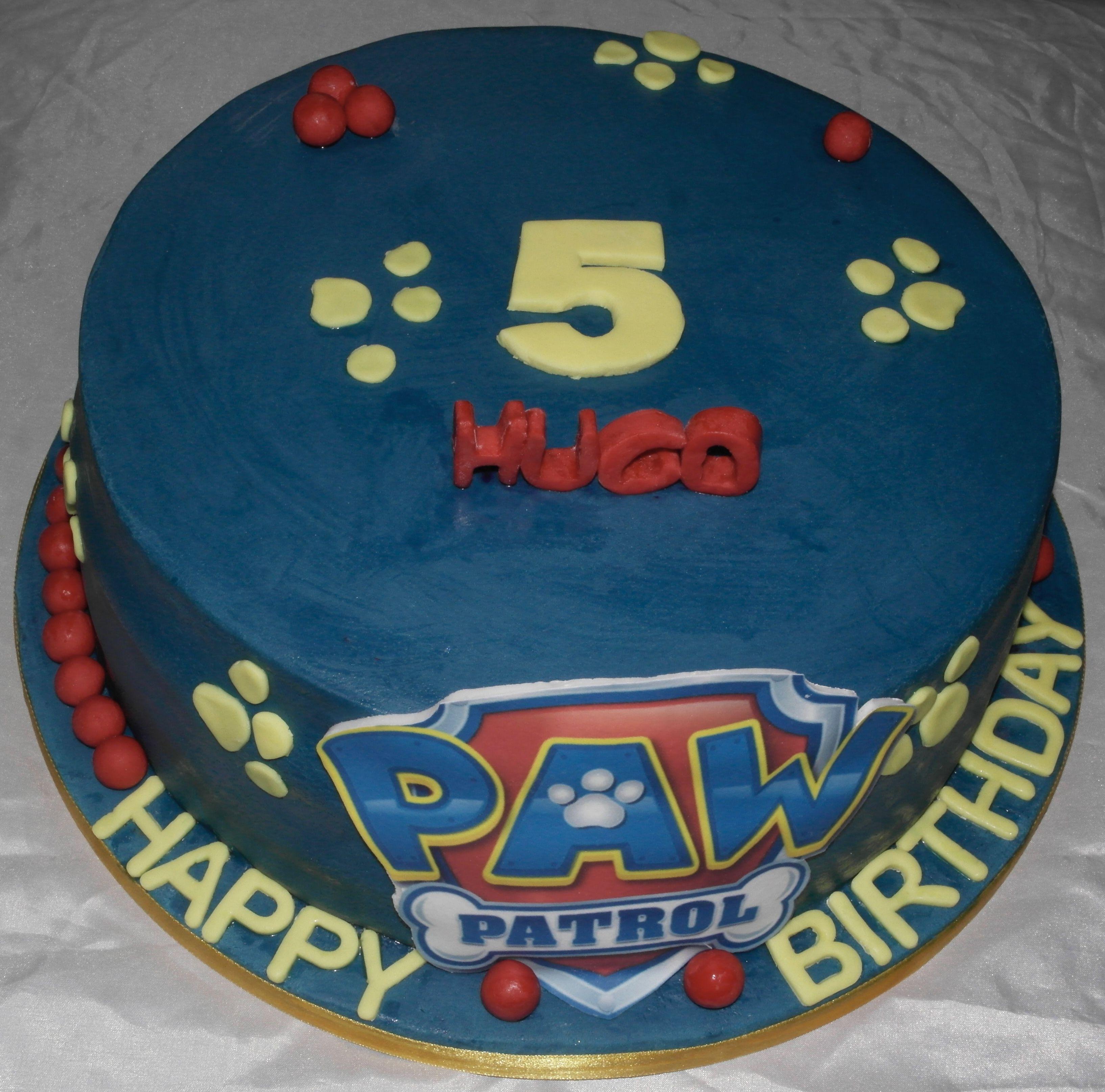 Tremendous Paw Patrol 5Th Birthday Cake Chocolate Layered Cake With Paw Funny Birthday Cards Online Bapapcheapnameinfo