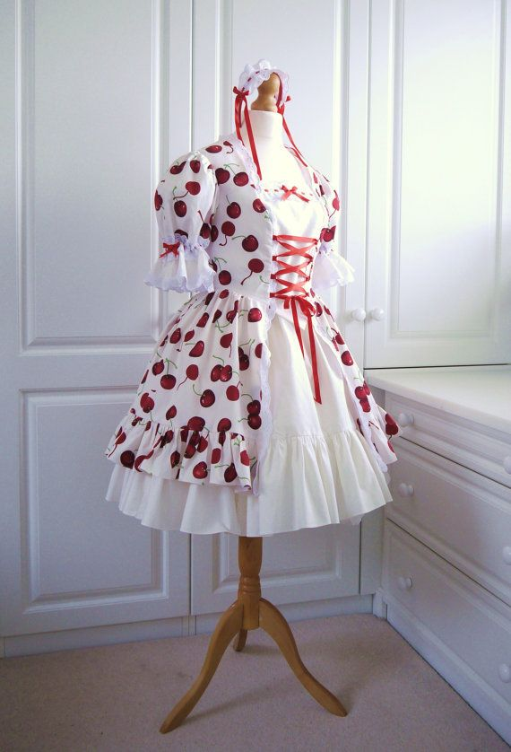 Classic Lolita Cherries Dress for Women. by FemmeJolieBoutique, £120.00