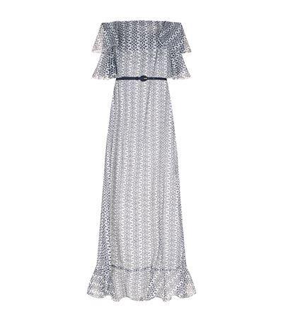 OSCAR DE LA RENTA Eyelet Off-The-Shoulder Gown. #oscardelarenta #cloth #