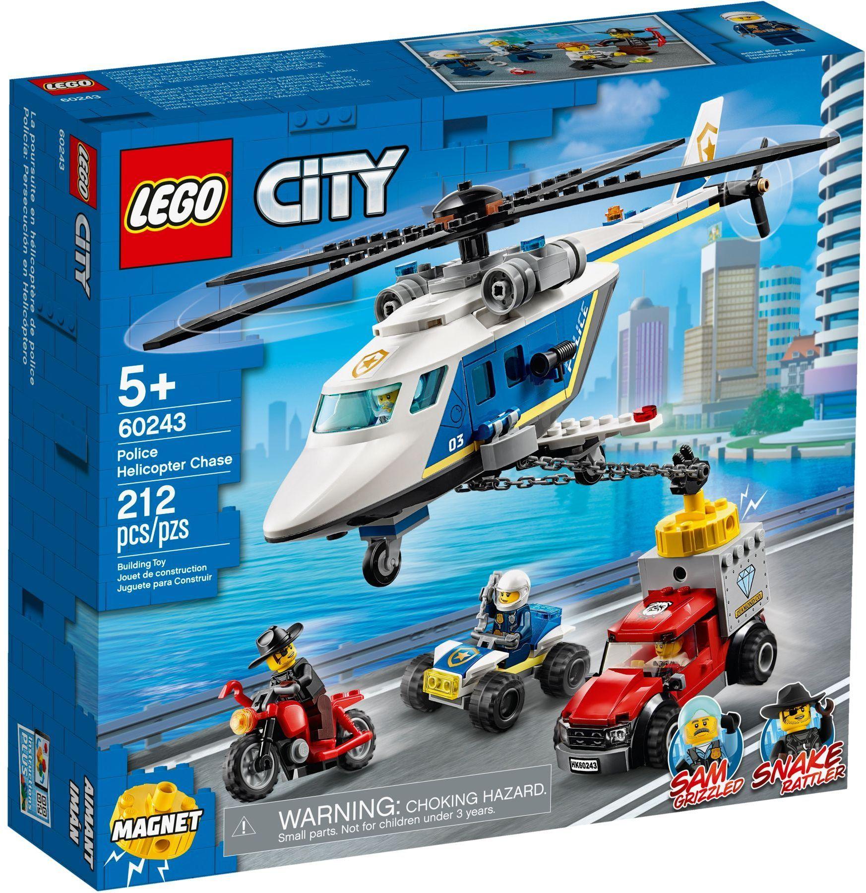 Lego City 60243 Police Helicopter Chase Lego City Lego City Police Lego City Sets