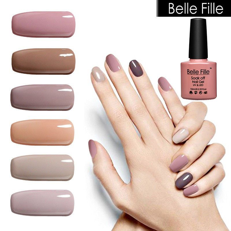 Belle Fille Lacquer Nude Color Uv Led Gel Nail Gel Polish Manicure ...